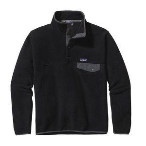 Patagonia men's black synchilla snap-T fleece